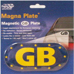 Blue Euro GB Magnetic Sticker