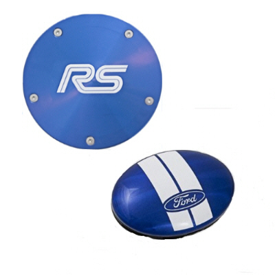 official licensed ford twist off back tax disc holder blue with ford rs logo official. Black Bedroom Furniture Sets. Home Design Ideas