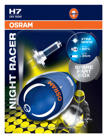 osram h7 night racer motorbike bulbs 90 12v 55w. Black Bedroom Furniture Sets. Home Design Ideas