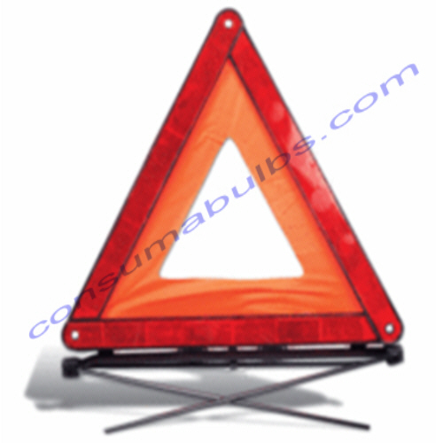 Warning Triangle - Red Fold Up  Safety Triangle, Flatpacked In A Plastic Case.