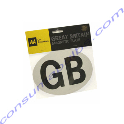 AA Magnetic GB Plate White and Black