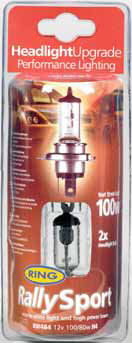 Ring H1, H4, H7, Rally Sport High Performance Car Bulbs