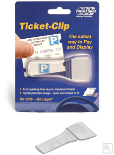Ticket-Clip for car or van windscreen